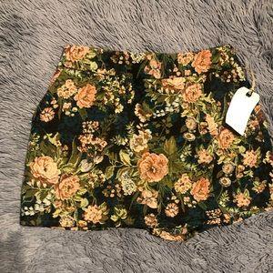 Leith floral skort